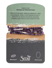 Load image into Gallery viewer, Scout Wrap Stone Bracelets Amethyst
