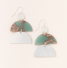 Load image into Gallery viewer, Scout Half-Moon Earrings Aqua Terra Silv