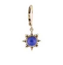 Load image into Gallery viewer, Blue Sunburst Stone Earring