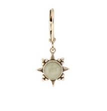 Load image into Gallery viewer, Moon White Sunburst Stone Earring