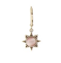 Load image into Gallery viewer, Rose Pink Sunburst Stone Earring