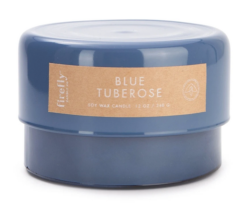 Blue Tuberose 13oz Glass Candle