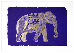 Gold Foil Elephant Greeting Card
