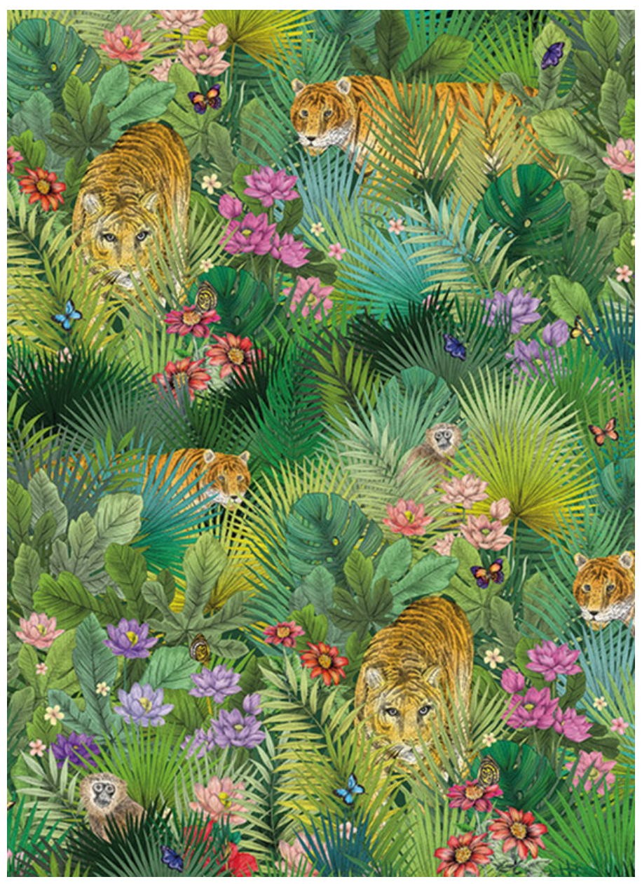 Tropical Tiger Card