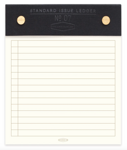 Black Standard Issue Post Bound Note Pad