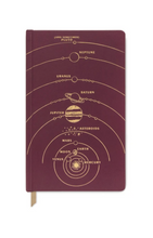 Load image into Gallery viewer, Burgundy Solar System Matte Notebook