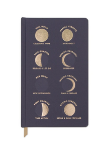 Charcoal Moon Phases Matte Notebook