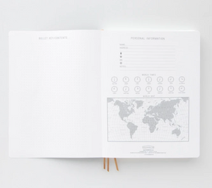 White Triple Notebook Planner