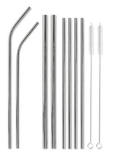 Load image into Gallery viewer, WHT Last Straw Stainless Steel Straw Set