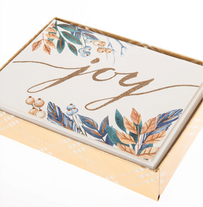 Joy Script Large Boxed Cards
