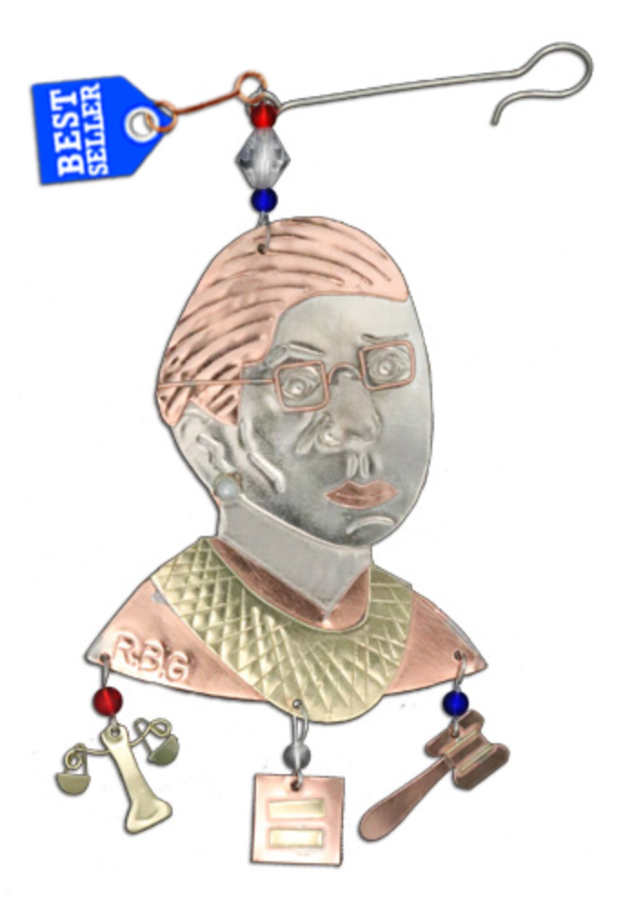 Ruth Bader Ginsberg Metal Ornament