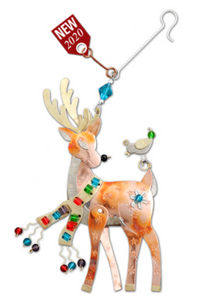 Vixen the Reindeer Metal Ornament