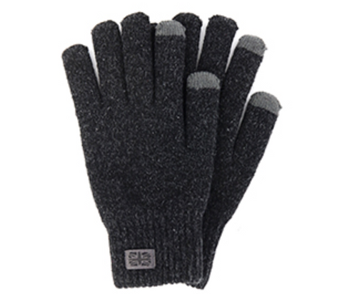Men's Frontier Knit Gloves Black
