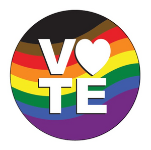 Vote - Pride Flag Button