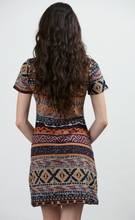 Load image into Gallery viewer, Autumn Pattern Stripe Sweater Dress