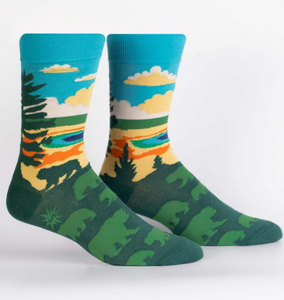 Grand Prismatic Men's Crew Sock