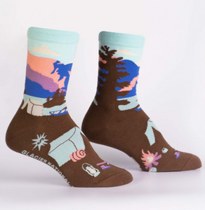 Glacier National Park Womens Crew Sock