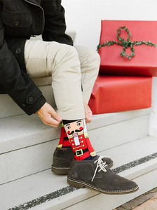 Mens Nutcracker Crew Sock