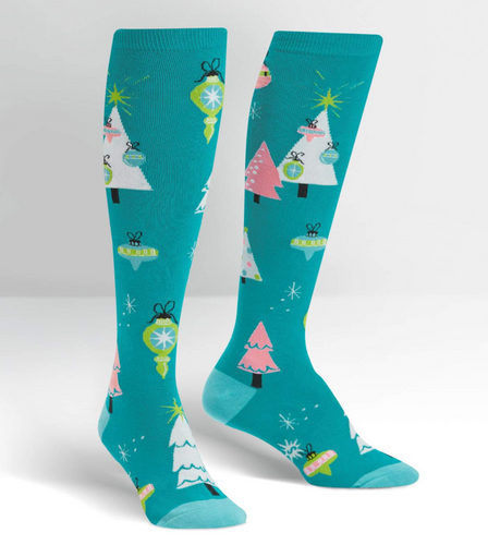 Holly Jolly Christmas Knee Socks