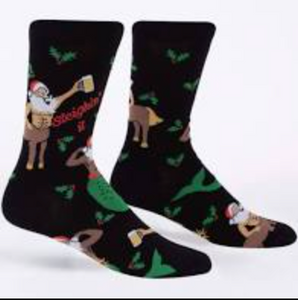 Sleighin' It Men's Crew Socks