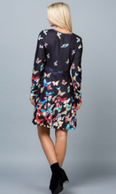 Load image into Gallery viewer, Black Multi Butterfly Sweater Dress
