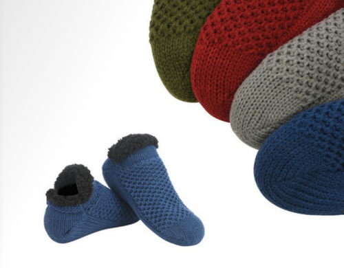 Men's Microcable Slipper Socks