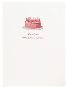 Pink Cake Wishes Card
