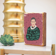 Load image into Gallery viewer, RBG Quote - Wood Art Block