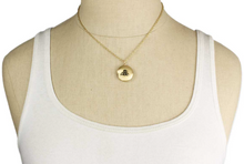Load image into Gallery viewer, Gold Bee Charm Locket Necklace