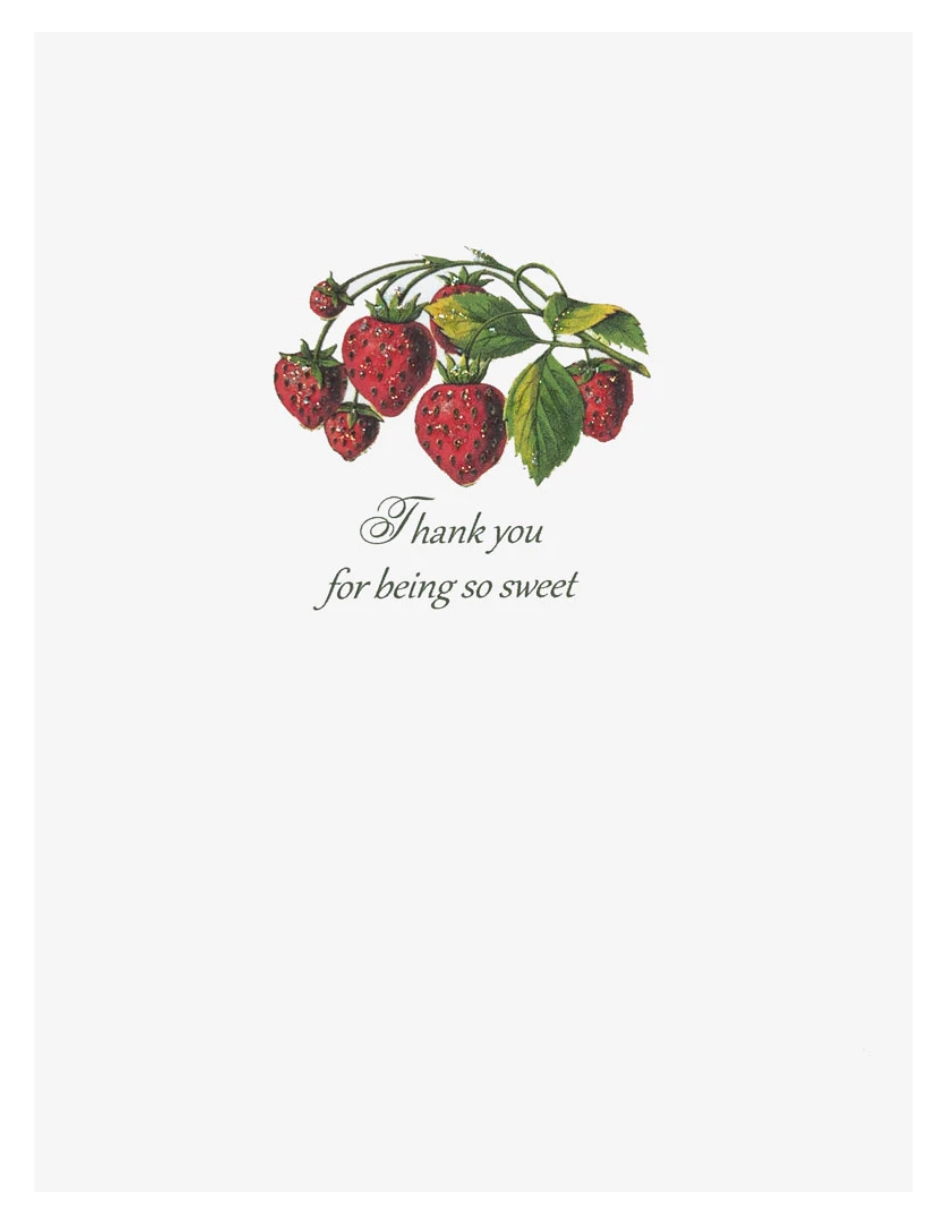 Berry Thank You Card