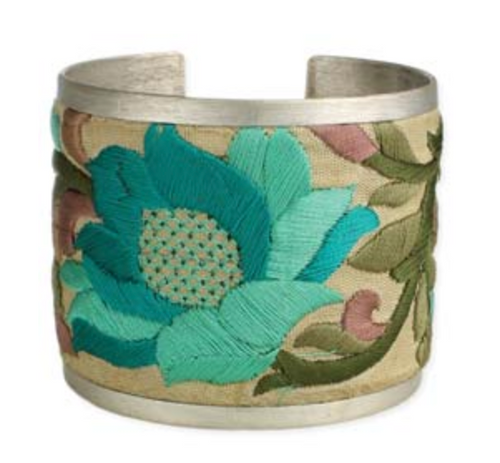 Zad Embroidered Fabric Cuff Bracelet Tur