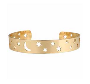 Moon and Stars Cut Out Bracelet