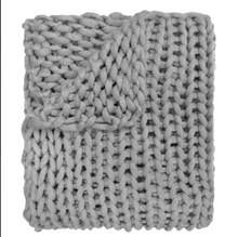 Load image into Gallery viewer, Chunky Knit Throw Grey