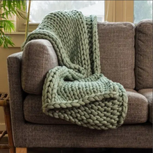 Load image into Gallery viewer, Chunky Knit Throw Sage