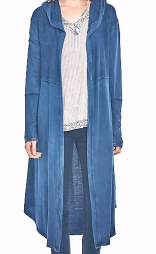 Denim Wash Long Cardigan
