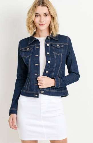 Classic Denim Jacket - Dark Blue