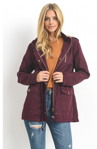 Mulberry Parka with Fur-Lined Hood