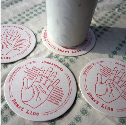 Palmistry Coasters Set of 4