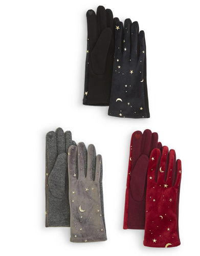 Gold Sun and Moon Gloves