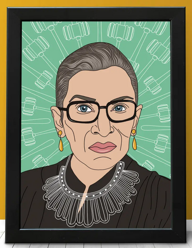 Notorious RBG Print - unframed
