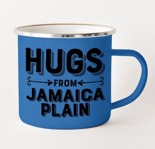 Hugs From JP Camping Mug Blue