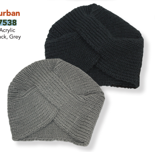 Cable Knit Winter Turban Cap