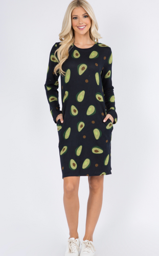 Avocado Knit Dress