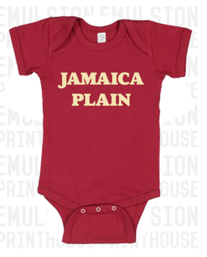 Jamaica Plain Red Onesie