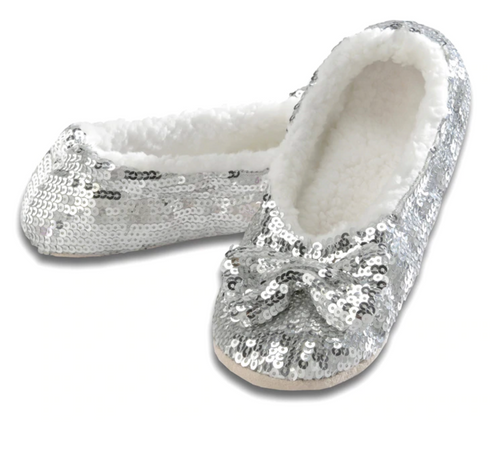 Silver Bling Sequin Slippers