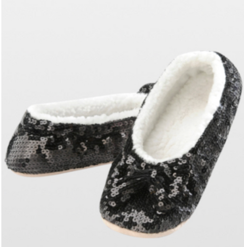 Black Bling Sequin Slippers