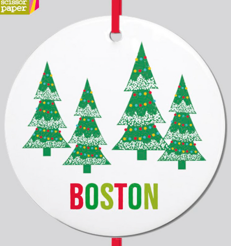 Tree Lot Boston Ornament