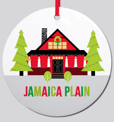JP Bungalow Ceramic Ornament