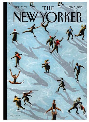 New Yorker Ice Skater Boxed Cards