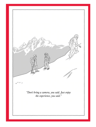 Abominable Snowman New Yorker Card